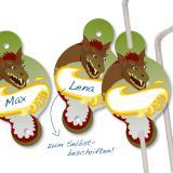 """Strohhalm """"Ritter und Drache"""" 8er Pack"""