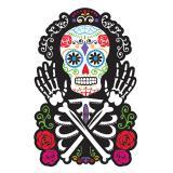"""Stylische Raumdeko """"Dia de los Muertos"""" 38 x 25 cm"""