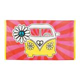 "Stylisches Stoff-Banner ""Bunte Hippie-Power"" 150 x 90 cm"