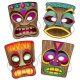 Tiki-Masken 4-tlg.
