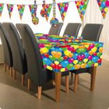 "Tischdecke ""Happy Birthday Bunte Ballons"" 180 cm"