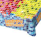 """Tischdecke """"Happy Crazy Birthday"""" 180 x 130 cm"""