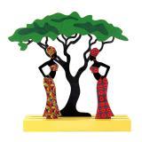 """Tischdeko aus Holz """"Afrika"""" 16,5 cm"""