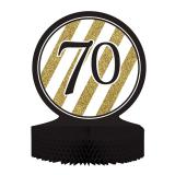 """Tischdeko """"Black & Gold 70"""" 30 cm"""