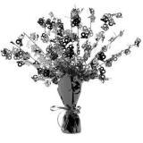 """Tischdeko Fontäne """"Happy 18th!"""" Black & White 38 cm"""
