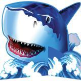 """Tischdeko """"Gefährlicher Hai"""" 22,5 cm"""