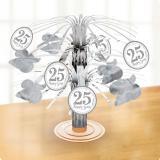 "Tischdeko Mini-Fontäne ""25 Happy Years"" 19 cm"