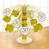 "Tischdeko Mini-Fontäne ""50 Happy Years"" 19 cm"