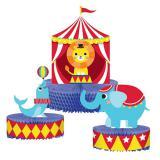 """Tischdeko """"Niedliche Zirkus-Tiere"""" 3er Pack"""