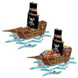 """Tischdeko """"Piratenschiff"""" 65 cm"""