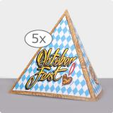"Tischdeko Pyramide ""Oktoberfest"" 13,5 cm 5er Pack"