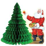 """Tischdeko """"Fleißiger Weihnachtsmann"""" 28 cm"""