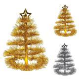 """Tischdeko """"Glitzernder Weihnachtsbaum"""" 41 cm"""