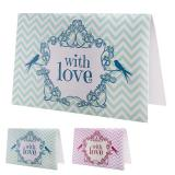 "Tischkarten ""With love"" 6er Pack"