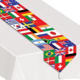 """Tischläufer """"Internationale Flaggen"""" 180 cm"""