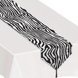 """Tischläufer """"Zebra-Look"""" mit Quaste 180 cm"""