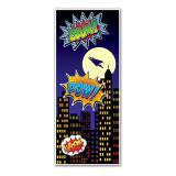 """Türdeko """"Comic Superheld"""" 76 x 183 cm"""