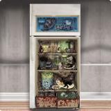 "Türdeko für Kühlschrank ""Zombie-Menü"" 85 x 165 cm"