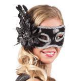 "Venezianische Maske ""Edle Verführung"" -schwarz"