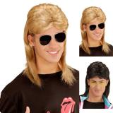 """Verrückte Perücke """"80er"""" mit Brille"""