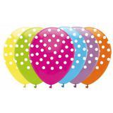 """Verschiedenfarbige Luftballons """"Pünktchen-Muster"""" 6er Pack"""