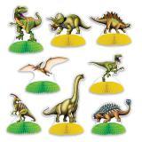 "Wabenpapier Tischdeko ""Dinosaurier Park"" 8-tlg."