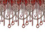 """Wanddeko """"Blutige Handschellen und Ketten"""" 1,2 x 9,1 m"""