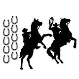 Wanddeko Cowboy Silhouette 12-tlg.
