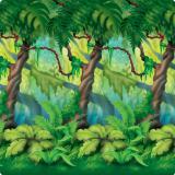Wanddeko Dschungel-Urwald 1,2 m x 9,1 m