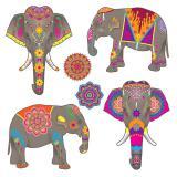 """Wanddeko-Elefanten """"Arabische Nächte"""" 6-tlg."""