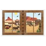 """Wanddeko """"Fenster zum Wilden Westen"""" 157 cm"""