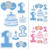 "Wanddeko ""First Birthday"" 8-tlg."