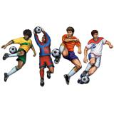 Wanddeko Fußballer in Aktion 51 cm 4er Set