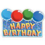 "Wanddeko ""Happy Birthday"" mit Luftballons 45 cm"