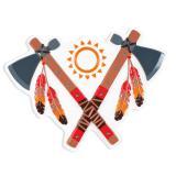 "Wanddeko ""Indianerleben"" 55 cm"