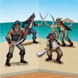 Wanddeko Kämpfende Piraten 3-tlg.