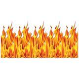"""Wanddeko """"Loderndes Feuer"""" 1,22 x 9,14 m"""
