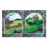 Wanddeko Mittelalterlicher Fensterblick 157 cm