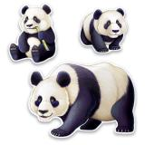 "Wanddeko ""Pandabären"" 3-tlg."