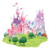 Wanddeko Pinkes Märchenschloss 154 cm