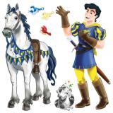 Wanddeko Prinz mit Pferd 6-tlg.