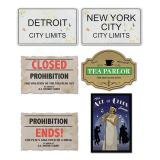 "Wanddeko ""Prohibition"" 6-tlg."