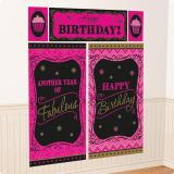 "Wanddeko-Set ""Fabulous Birthday""  5-tlg."