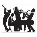 "Wanddeko Silhouetten ""20er Jahre Band"" 183 x 152 cm"
