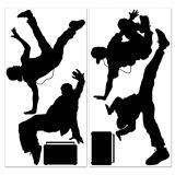 "Wanddeko Silhouetten ""Breakdancer"" 6-tlg."