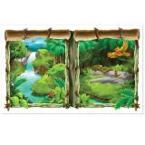 Wanddeko Tropischer Dschungel 157 cm