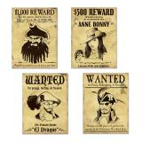 "Wanddeko ""Wanted Pirates"" 4er Pack"