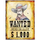 "Wanddeko ""Wanted!"" 38 x 50 cm"