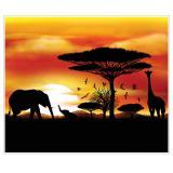 """Wanddeko """"Wildes Afrika"""" 1,52 x 1,83 m"""
