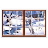 """Wanddeko """"Winterliches Fenster"""" 157 cm"""